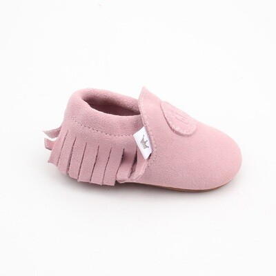 Classic Moccasins  - Baby Pink (SUEDE)