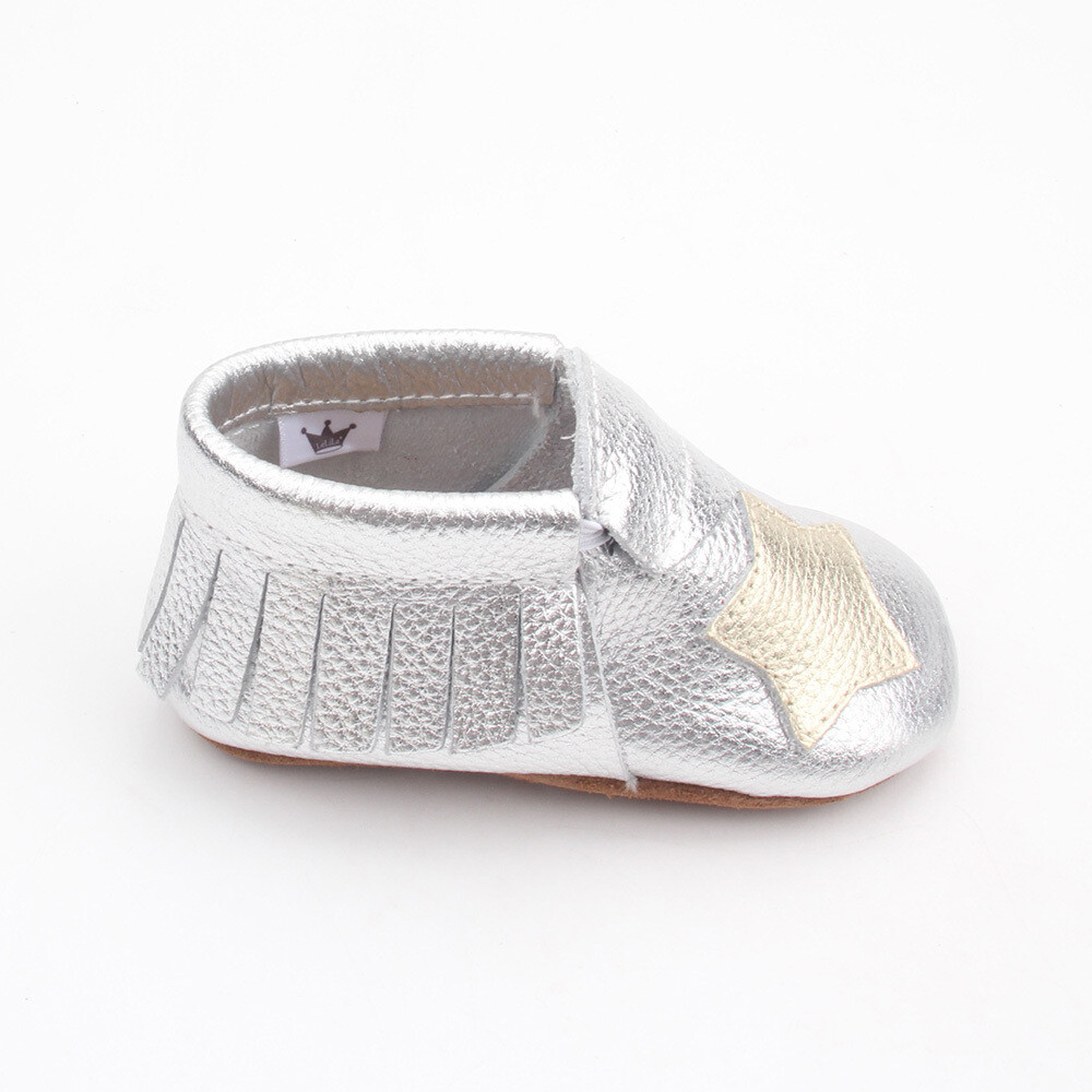 Star Moccasins  - Silver