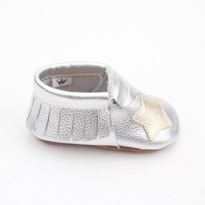 Star Moccasins  - Silver