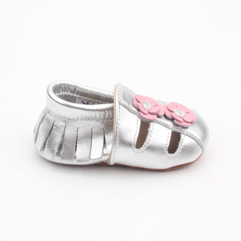 Sandal Moccasins - Silver