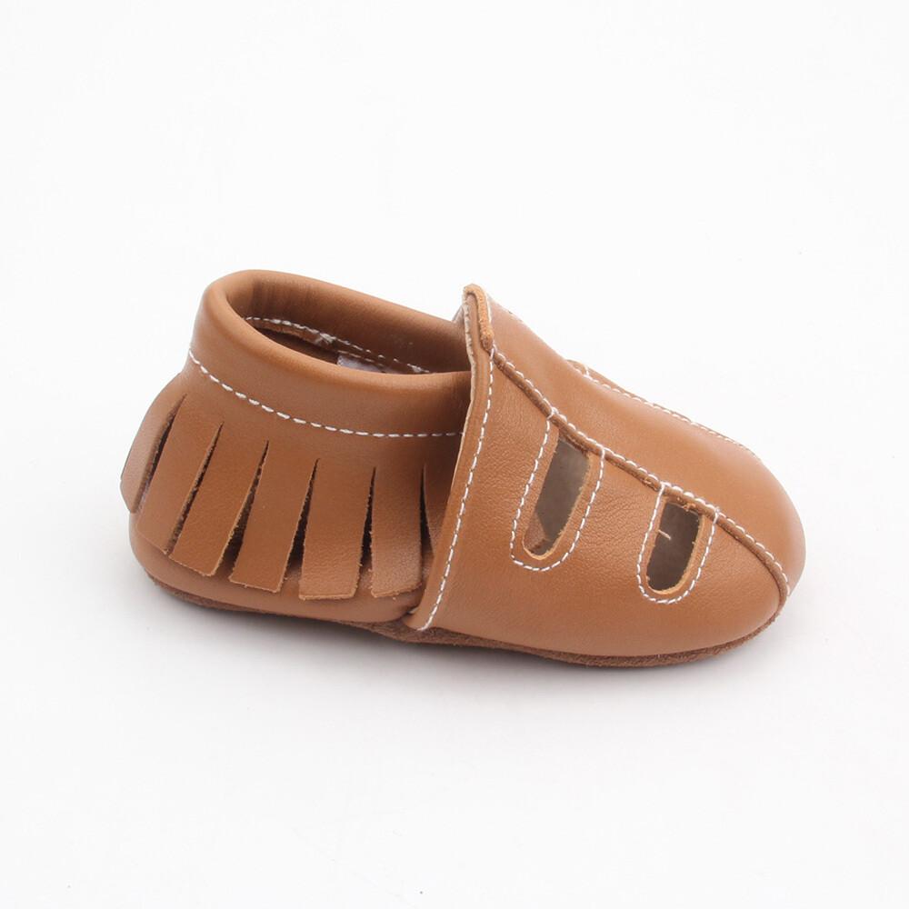 Sandal Moccasins - Light Brown
