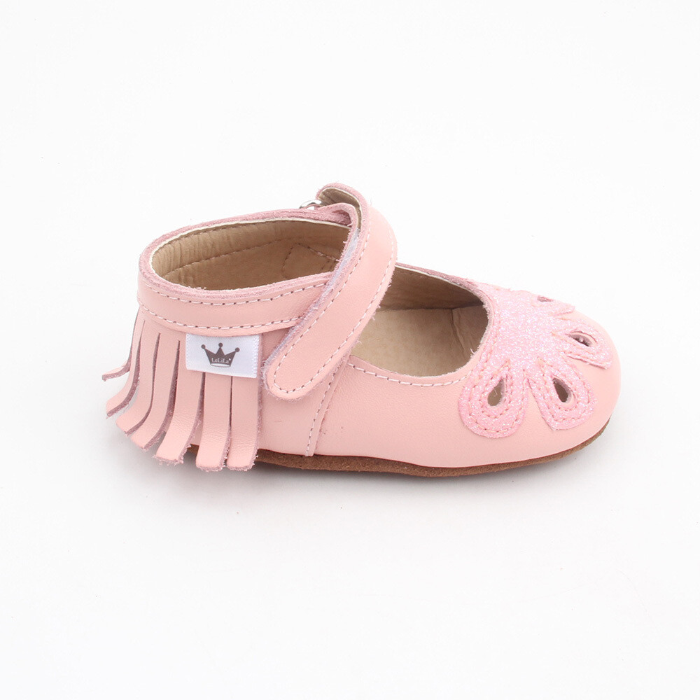 Moccasins - Mary Jane Sparkle - Pink