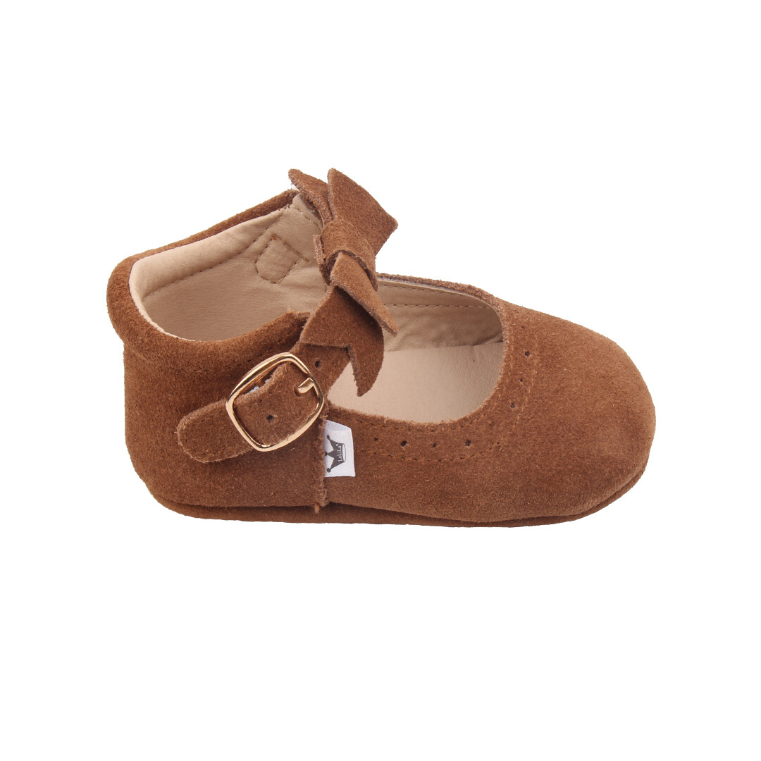 Oxford Mary Jane's - Brown (Suede)