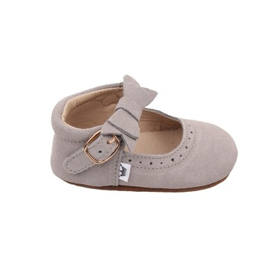 Oxford Mary Jane's - Grey (Suede)