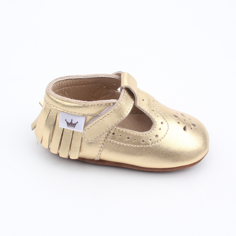 Moccasins T-Bars - Gold