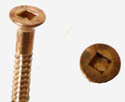 Silicone bronze wood screws/#8/sq. drive