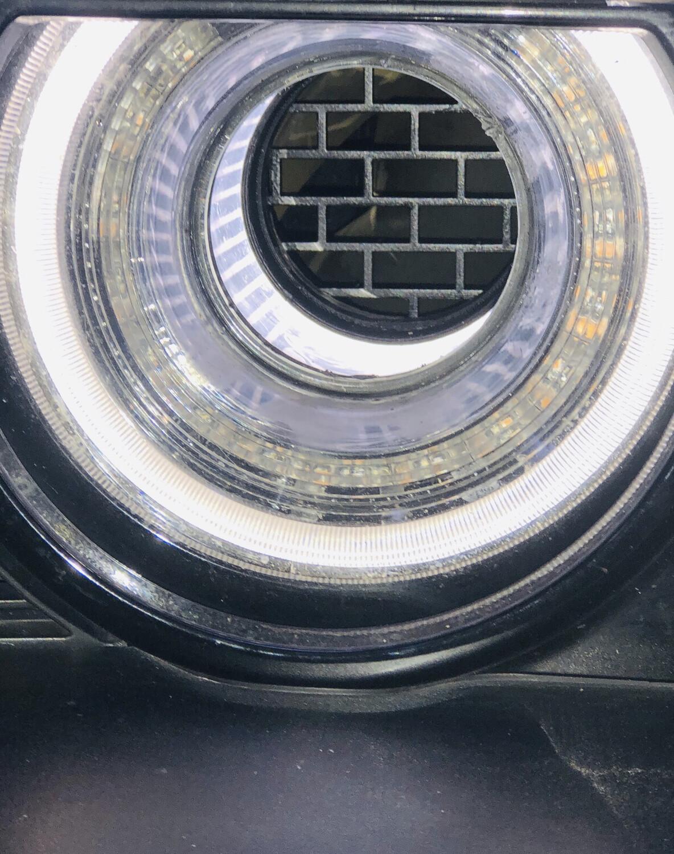 Rear Headlight Screens - Fits NON-Original Illuminated (70mm) Tubes Only.