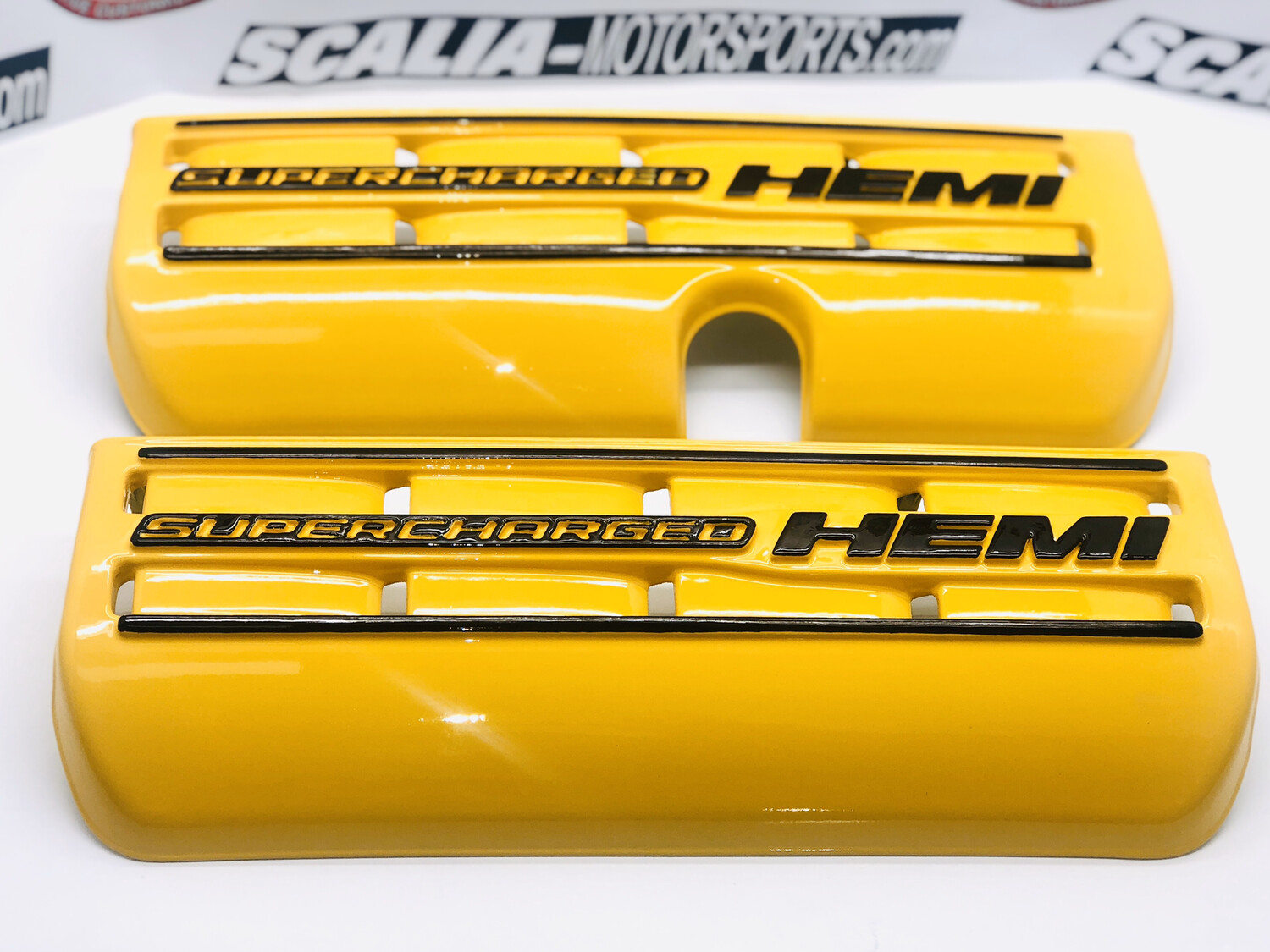 SUPERCHARGED HEMI Painted Engine Covers - Pair