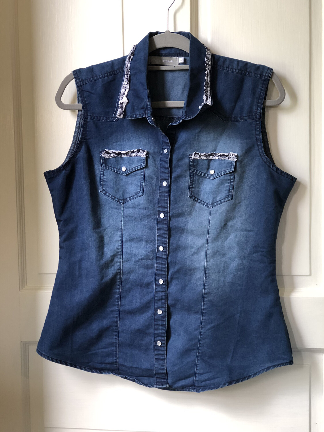 Recycled Jean Vest