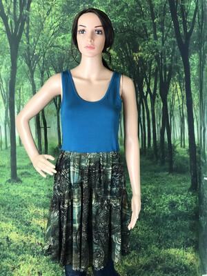 Teal Paisley Print Dress