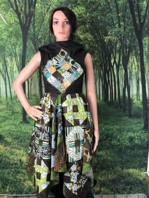 Brown Quilt Dress