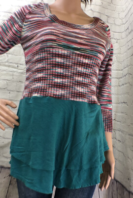 Pink And Teal Sweater Upcycle