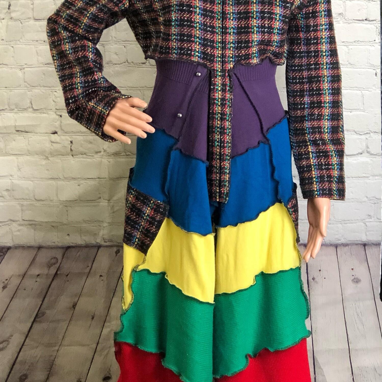 Upcycled Layer Jacket AKA Jayer W Rainbow Colors