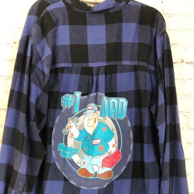 Number One Dad Family Guy Flannel Fathers Day Gift