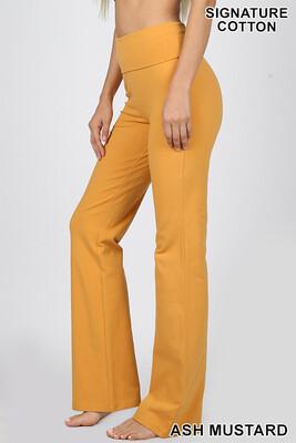 Cotton Flare Pant Ash Yellow W Yoga Band