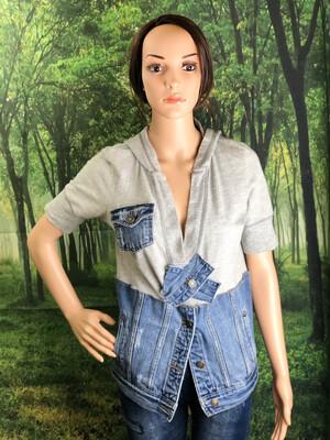 Short Sleeve Sweat Jean Pullover