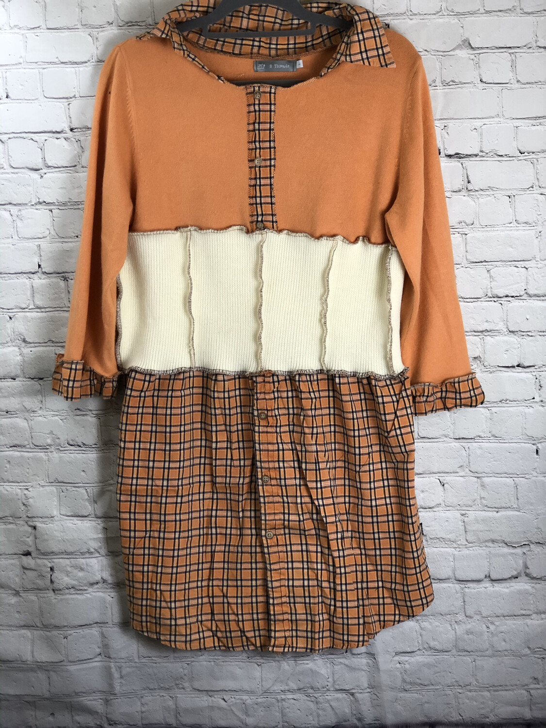Orange Cream Sweater Dress