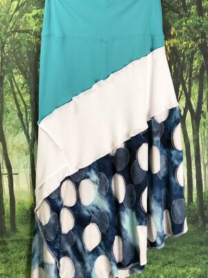 Dots Asymmetrical Skirt