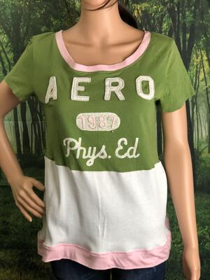 Aero Green White Pink Top