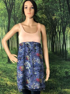 Peach Tank Purple Floral Dress
