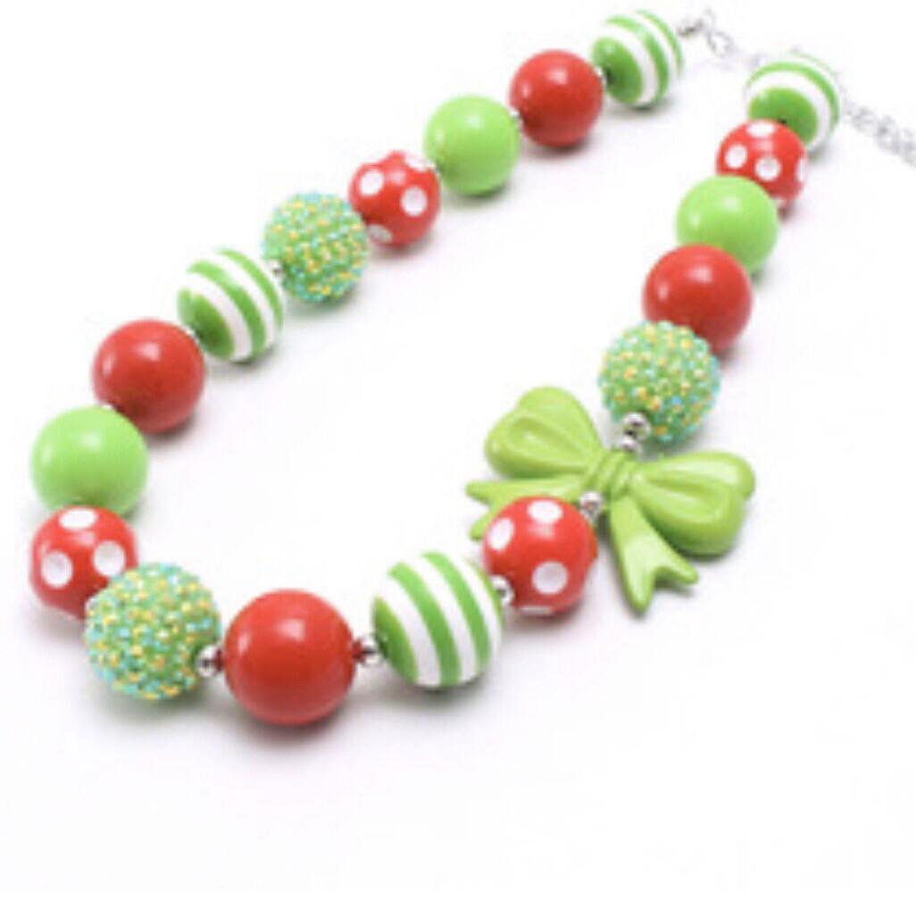 Bubblegum Necklace Green & Red
