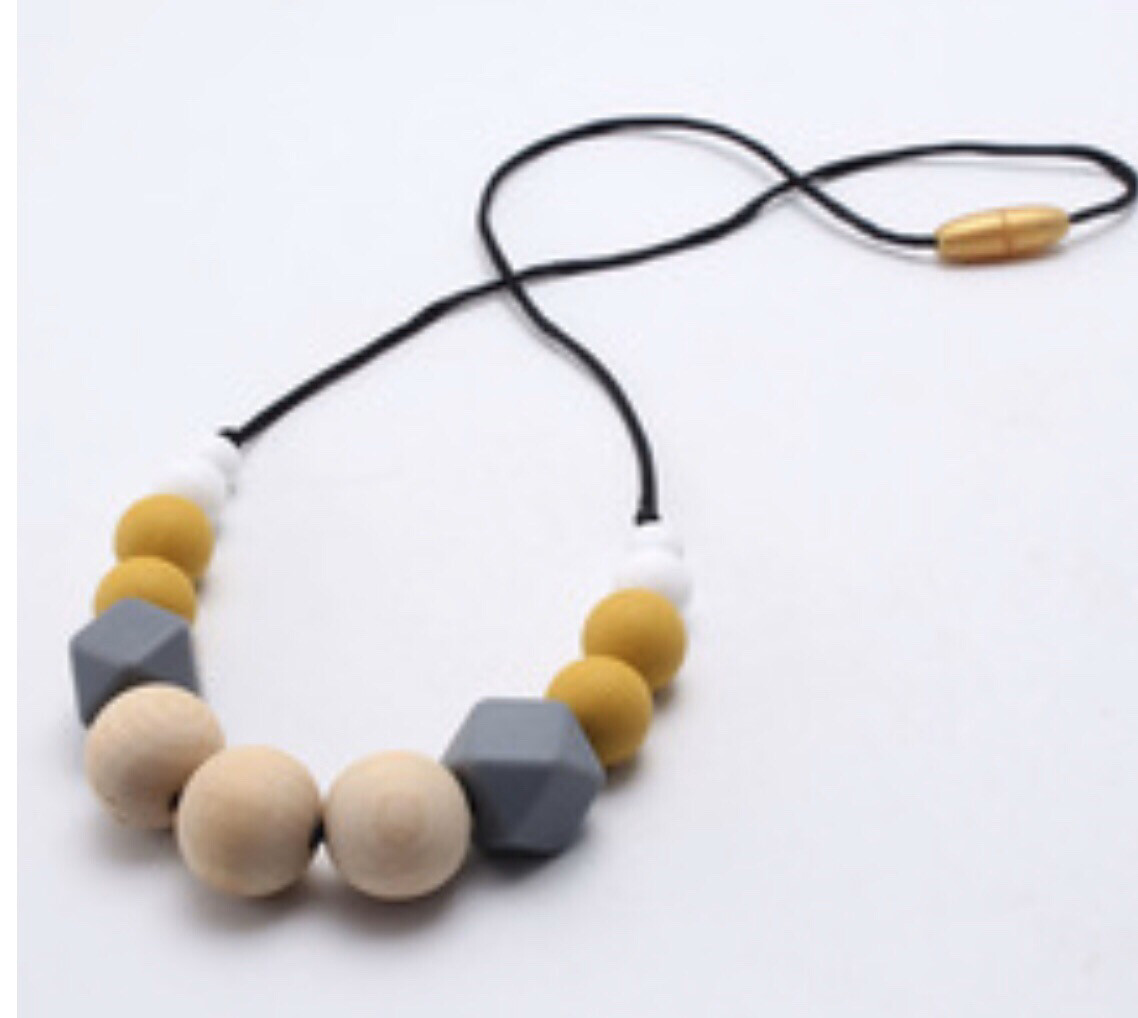 Teething Necklace Silicone Beads