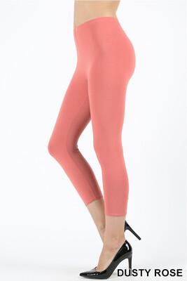 Capri Length Dusty Mauve Pants