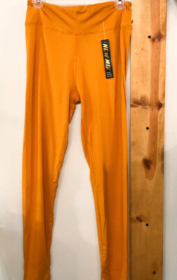 Leggings Solid Gold Yellow Plus Size