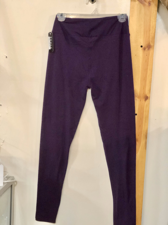 Leggings Dark Purple Solid Color One Size