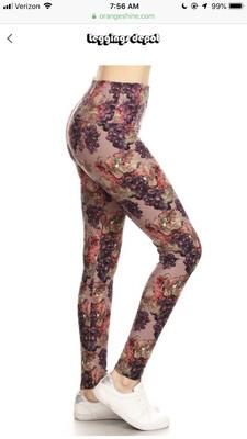 Leggings Grapes Print One Size