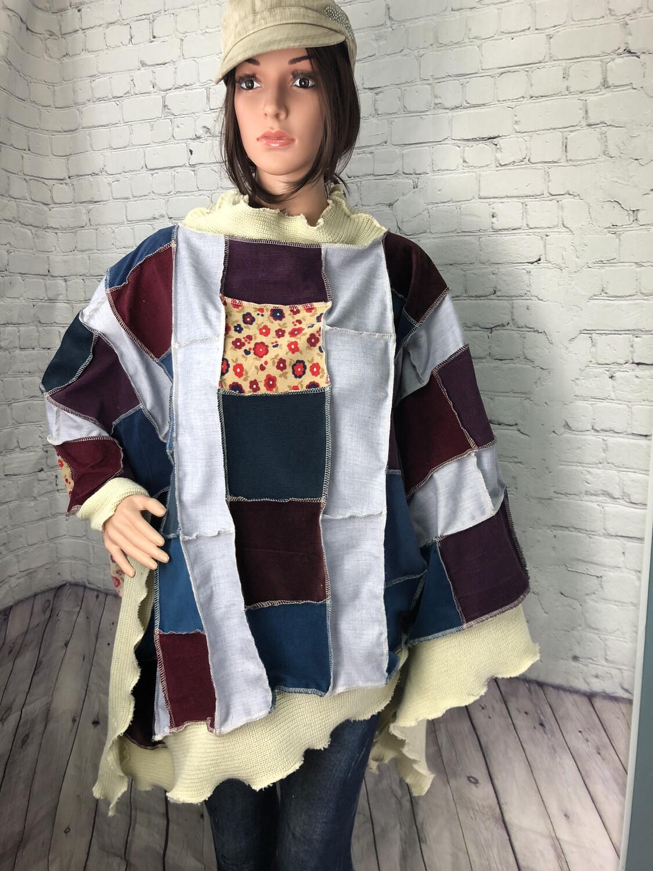 Larkspur Corduroy Sweater Poncho