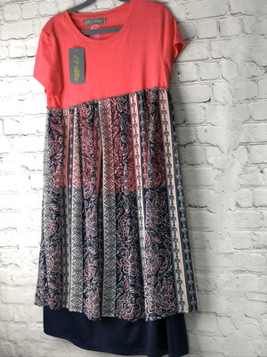 Child Neon Pink Short Sleeve Dress