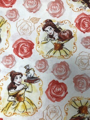 Belle Beauty & The Beast Print Handmade Face Mask