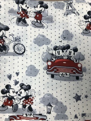 Mickie & Minnie Mouse Print Handmade Face Mask