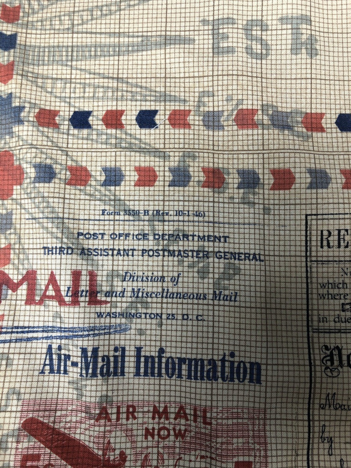 Mail Carrier Print Handmade Face Mask