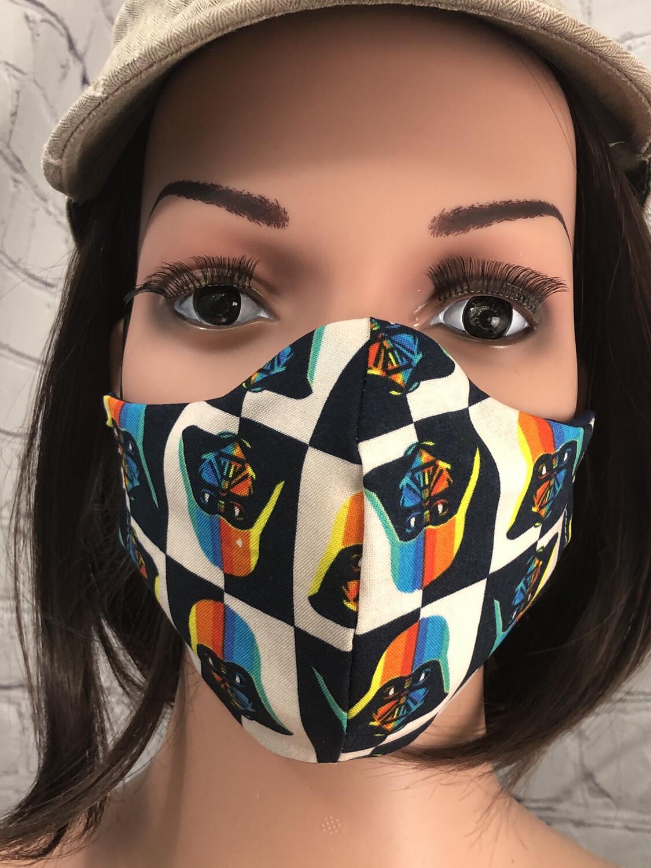Darth Vader Print Handmade Face Mask
