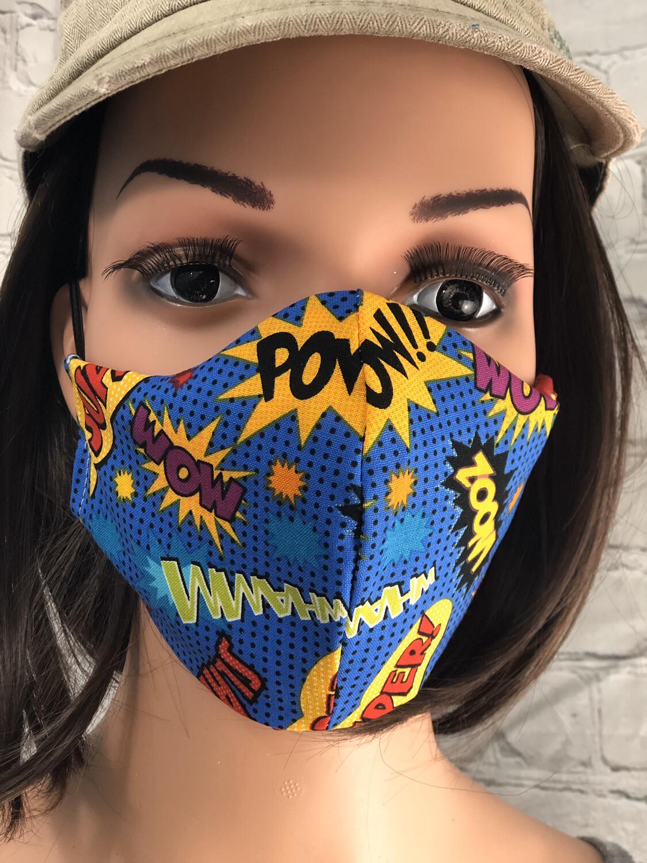 Superhero Print Handmade Face Mask Face Cover