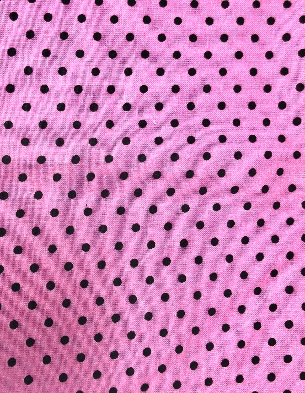 Pink with Black Polka Dot Print Handmade Face Mask