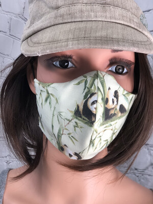 Panda Fabric Print Handmade Face Mask