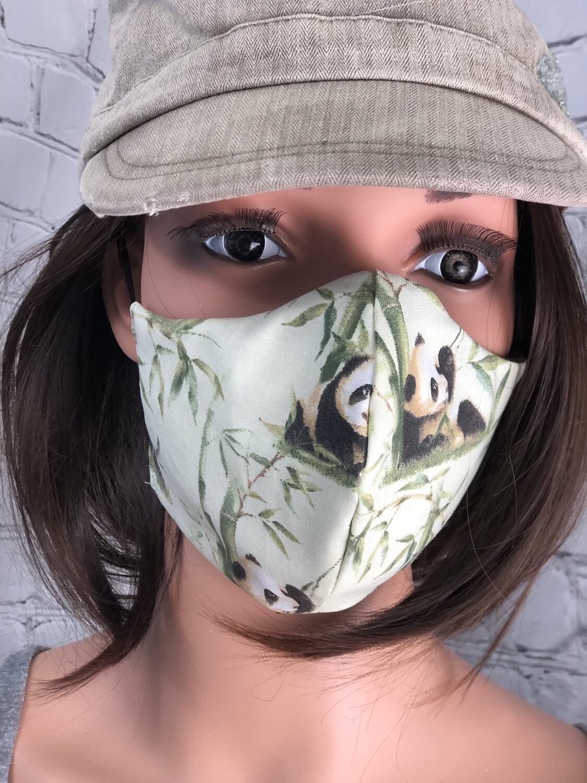 Panda Fabric Print Handmade Face Mask