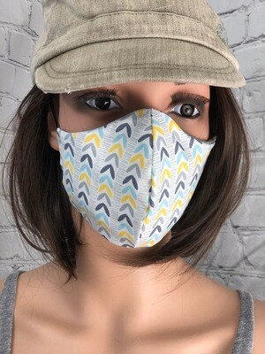 Simple Fabric Pattern Handmade Face Mask