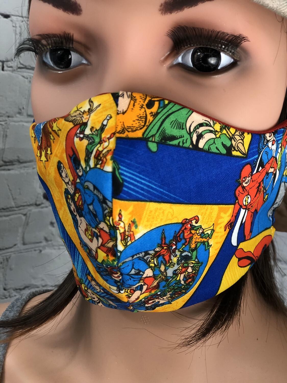 Justice League Print Handmade Face Mask