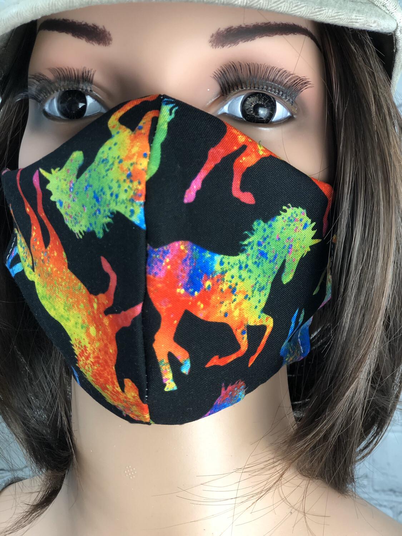 Unicorn Print Handmade Face Mask