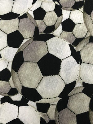 Soccer Ball Fabric Handmade Face Mask