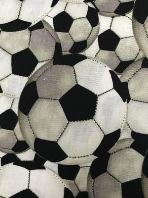 Soccer Ball Fabric Handmade Face Mask