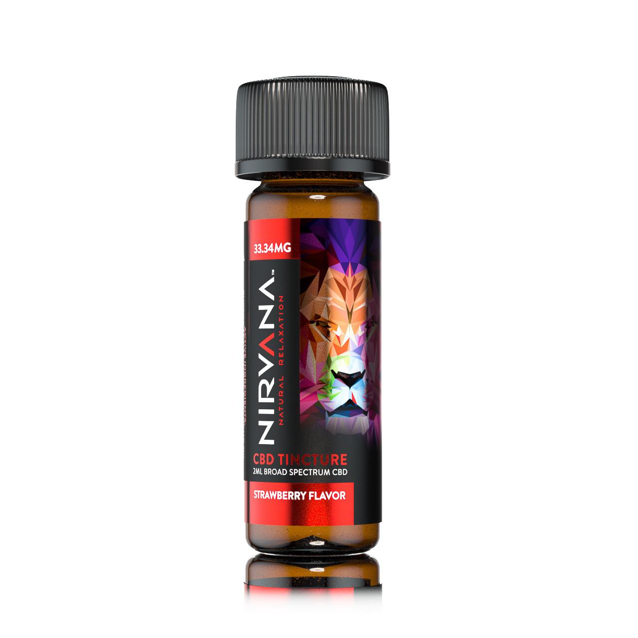 NIRVANA Strawberry 33mg Broad Spectrum Shot (2ml bottle)