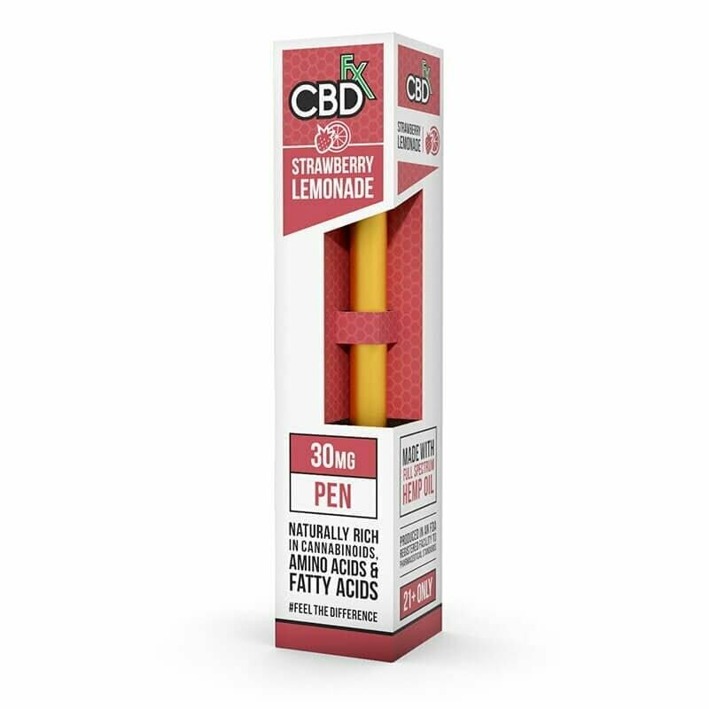 30mg Broad Spectrum Strawberry Lemonade Pen