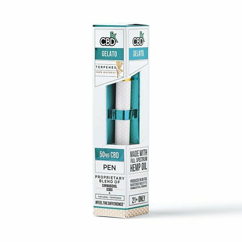 50mg Broad Spectrum Gelato Terpenes Pen