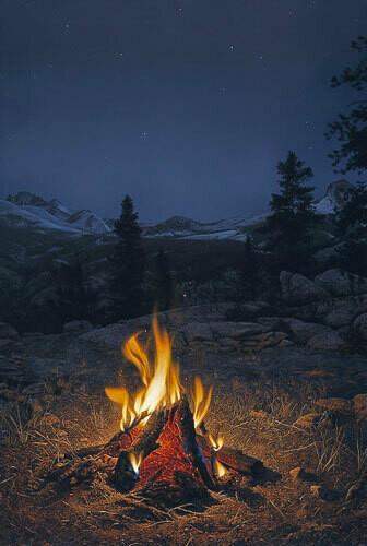 A Mountain Campfire