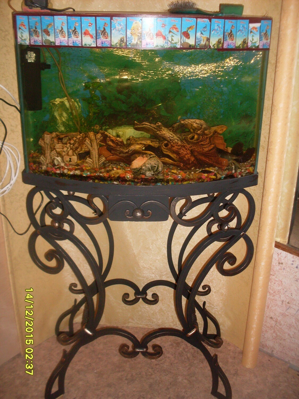 Кованая подставка под аквариум